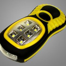 pracovna smd led lampa s magnetom na baterky