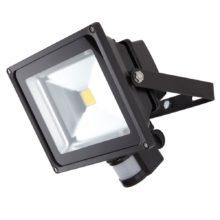 cierny led reflektor 20w s pohybovym senzorom