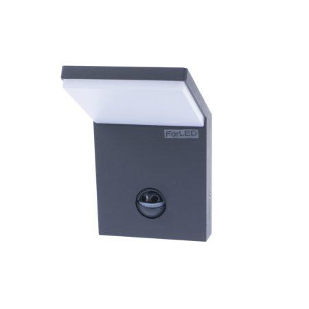 antracitove nastenne led svietidlo s pohybovym senzorom 9,5w ip54