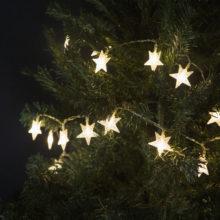 vianocna led retaz na 230v hviezdy