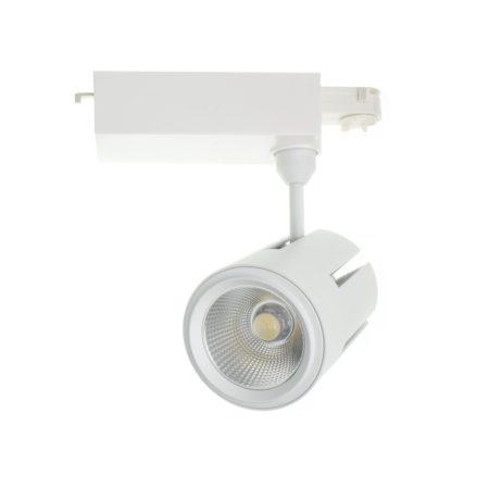 kolajnicovy cob led reflektor 40w cree biely