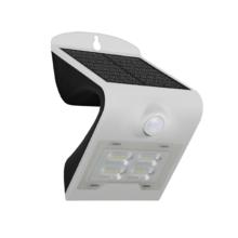 solarne nastenne led svietidlo ip65 s pohybovym senzorom 2w biele