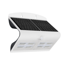 solarne nastenne led svietidlo ip65 s pohybovym senzorom 6,8w biele