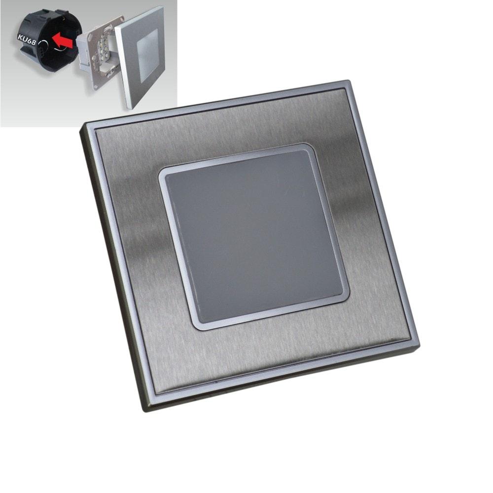 hranate orientacne led svietidlo 1w do elektroinstalacnej krabice ku68 satin nickel