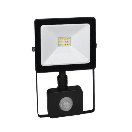 cierny smd led reflektor s pohybovym senzorom 10w