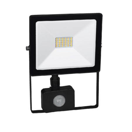 cierny smd led reflektor s pohybovym senzorom 20w
