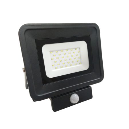 cierny smd led reflektor s pohybovym senzorom 30W