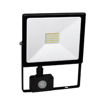 cierny smd led reflektor s pohybovym senzorom 50w