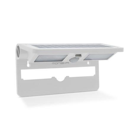 nastenne solarne svietidlo ip65 s pohybovym senzorom 2w biele