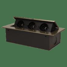 mosadzna vyklopna zasuvka do nabytku 3x16a bez kabla