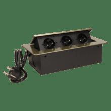mosadzna vyklopna zasuvka do nabytku 3x16a s flexo kablom
