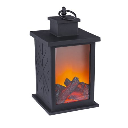 led lampas s efektom ohna