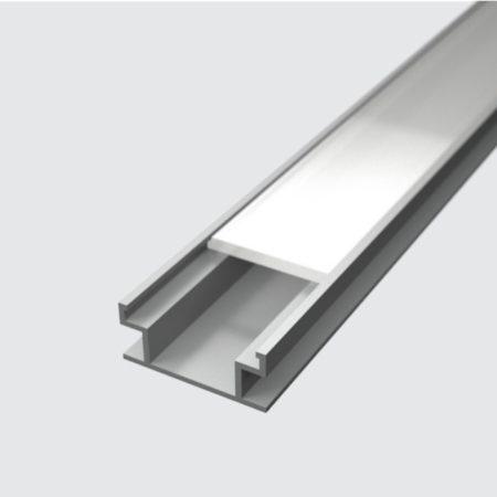 elox hlinikovy profil FLOOR s difuzorom 2m a prislusenstvom